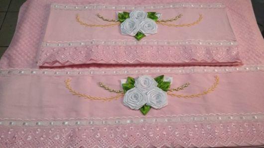 Sugestão de bordado com fitas