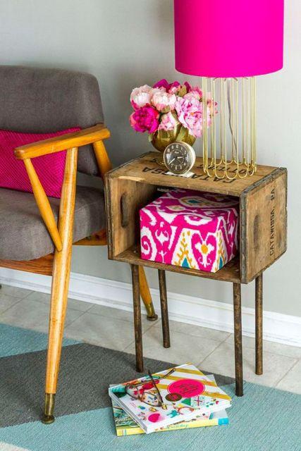 Detalhe de sala com caixa decorativa