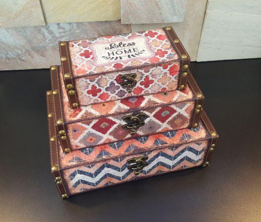 Você também pode criar uma coleção de caixas de madeira decorativas