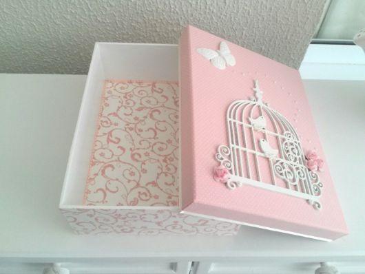 Sugestão de como decorar caixa rosa