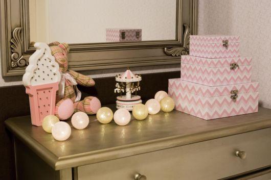 Dica de caixas decorativas para quarto de bebê