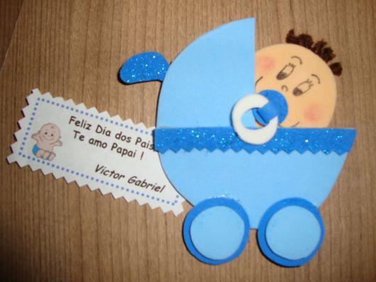 carrinho de bebê em EVA convite