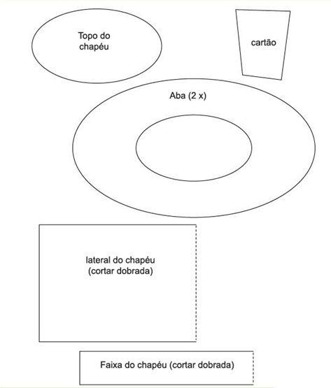 molde simples de cartola de EVA