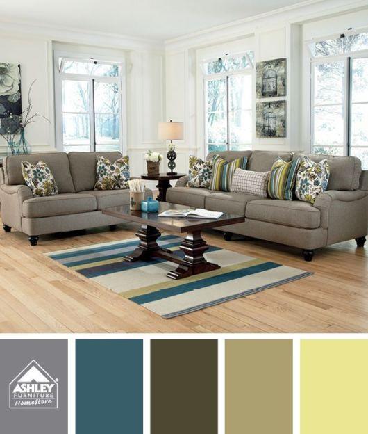 Mais uma ideia de como combinar as cores em sua sala de estar
