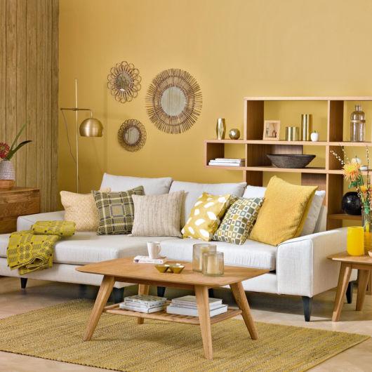 Sugestão para investir no amarelo para sala pequena