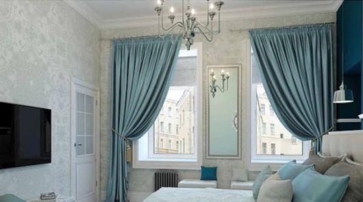 Modelos de cortinas clássicos combinam com essa cor elegante