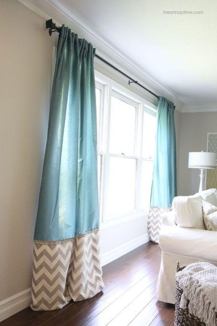 cortina azul turquesa