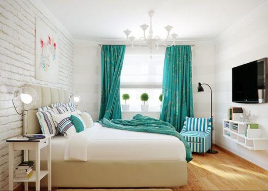 cortina combinando com colcha