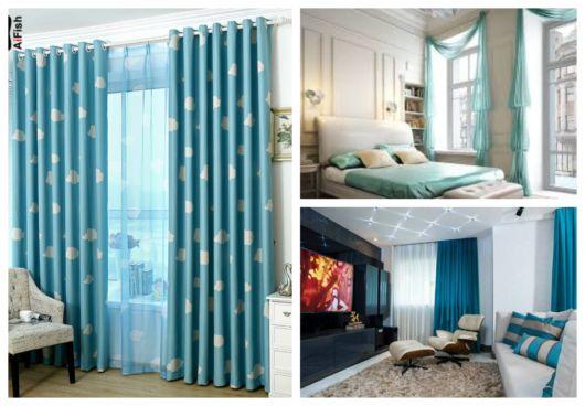 As cortinas azuis renovam qualquer ambiente