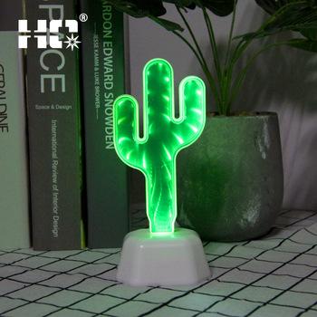 Luminária com a luz verde