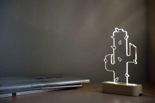 Veja que luminária moderna inspirada em cacto