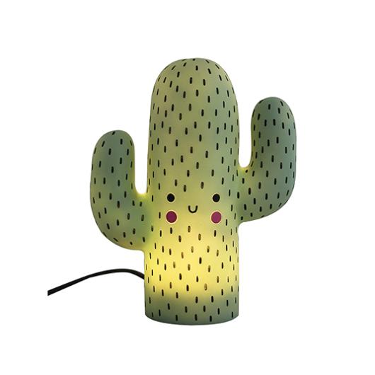 Luminária com luz de LED neon em forma de cacto