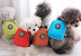 mochila para cachorro de lona