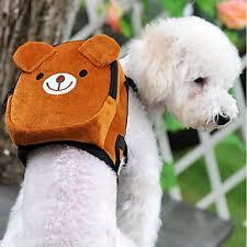 mochila para cachorro ursinho de pelúcia