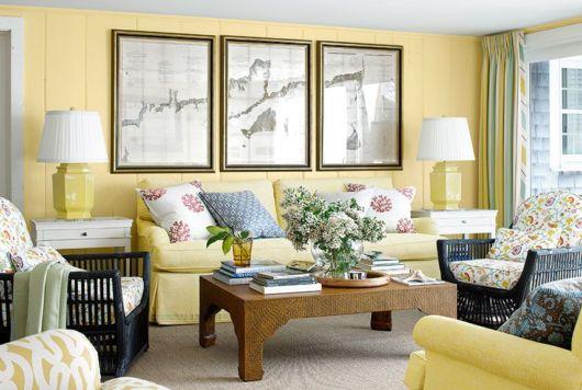 Dica para decorar sua sala amarela