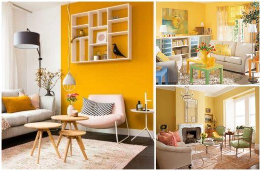 Inspire-se com decorações inovadoras de salas amarelas