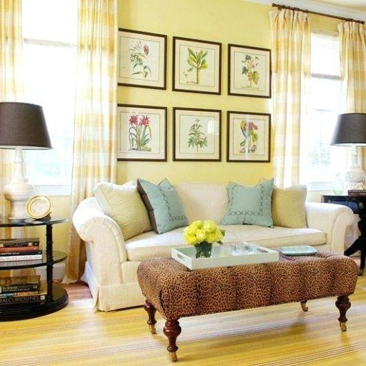 Há muitas ideias de como você pode ornamentar a sala amarela