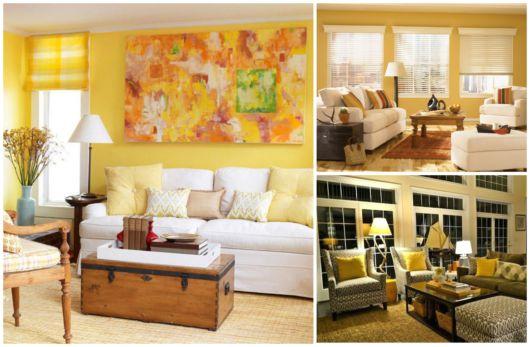 As salas amarelas estão na moda atualmente