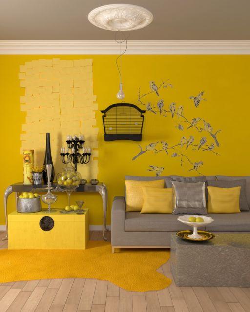 Até o amarelo gema pode ser usado nas paredes da sala