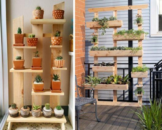 Os suportes grandes são ideais para criar um jardim vertical em casa