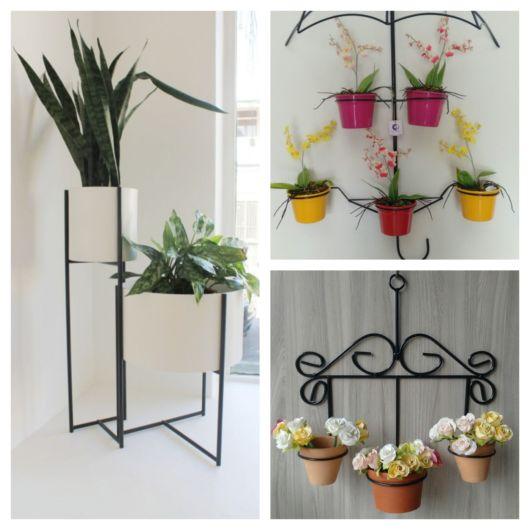 90 lindos modelos de suporte para plantas para todos os gostos