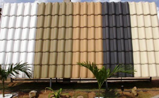 Diversidade de cores das telhas esmaltadas