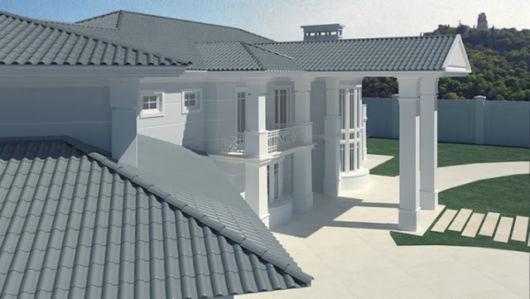 Já as telhas cinzas são muito usadas em casas do exterior