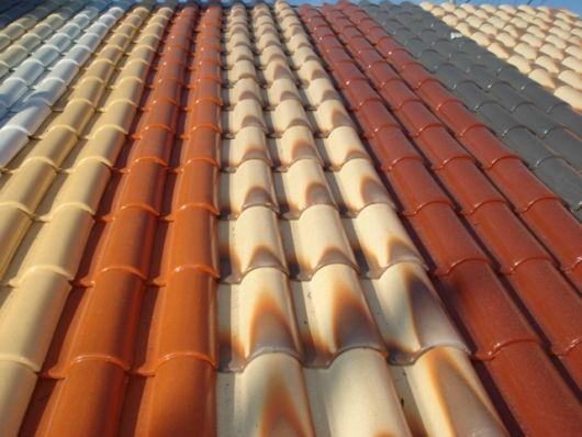 As telhas esmaltadas são consideradas mais resistentes