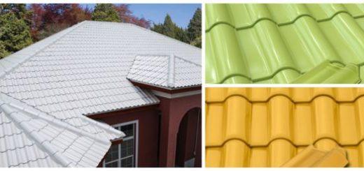 Modelos de telha esmaltada