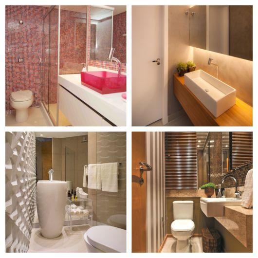 Diversos formatos de cuba, que sem dúvidas, vão valorizar seu banheiro