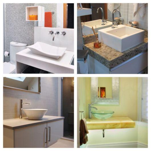 Você encontra diferentes modelos de cuba para banheiro nas lojas especializadas