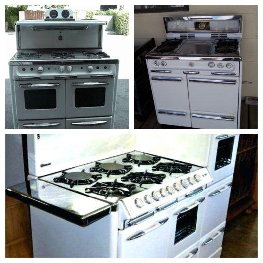 O fogão vintage é o clássico da época em que foi produzido, sem mudanças em sua estrutura