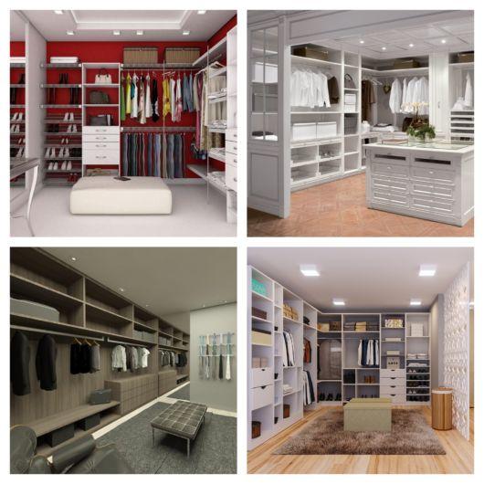 60 modelos de closet aberto + ótimas dicas para montar o seu!