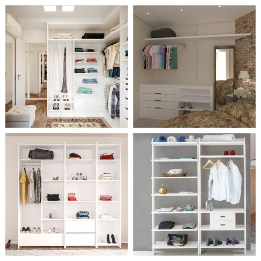 Os modelos minimalistas são ótimos para organizar e decorar seu quarto