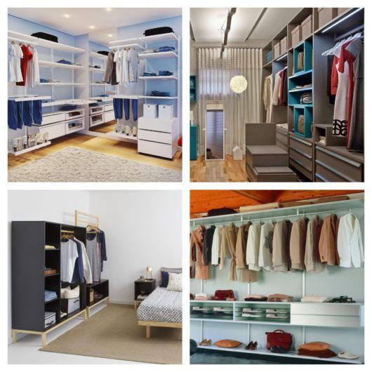 Os modelos espaçosos são ideais para quartos grandes e para quem possui diversas peças e acessórios