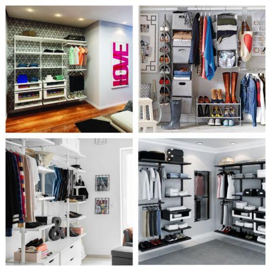São diversas maneiras de montar seu closet e mantê-lo organizado