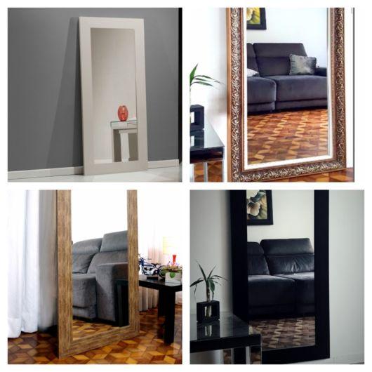 São diversos padrões e tamanhos de espelho para variados estilos decorativos
