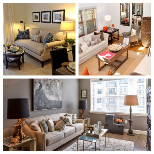Sofá, mesa de centro e TV são aparatos que não podem faltar em sua sala de apartamento pequeno