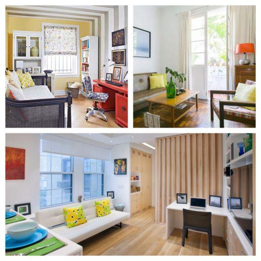 Você pode decorar sua sala de diversas formas, de modo estratégico e coerente