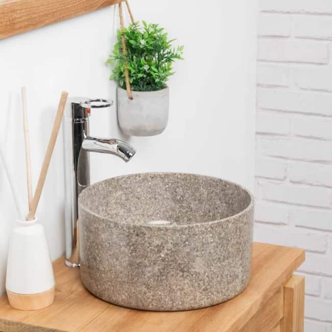 Cuba de mármore para banheiro