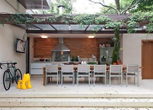 varanda moderna com pergolado