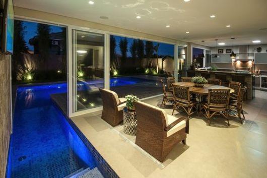 projeto moderno com piscina