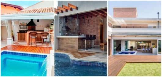 projetos com piscina