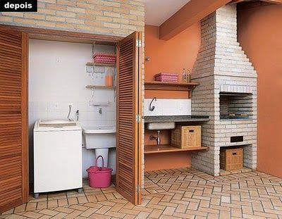 varanda compatilhada com lavanderia