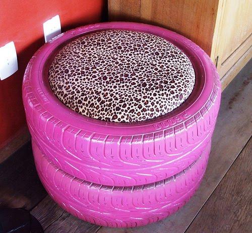 São várias as perspectivas para transformar um pneu em uma casinha perfeita