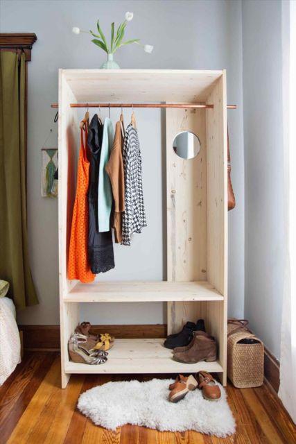 Closet ideal para quartos pequenos