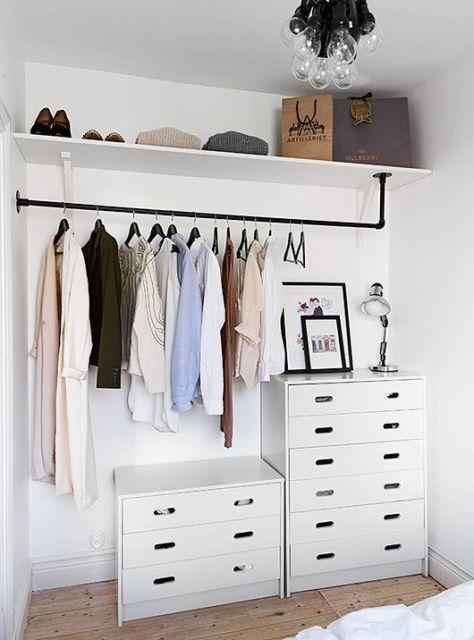 Lindo espaço minimalista para ornamentar a decoração de seu quarto