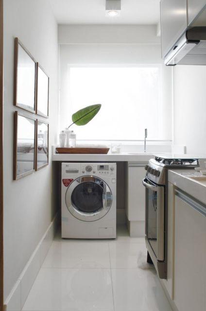 Você deve projetar a lavanderia de modo estratégico em seu cômodo