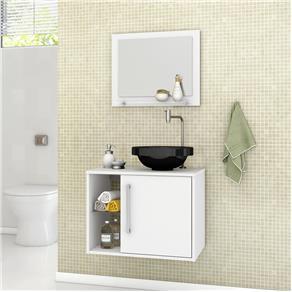 O modelo ideal para quem quer ganhar espaço em seu banheiro pequeno