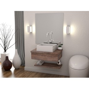 Um modelo com armário compacto e único, além do espelho